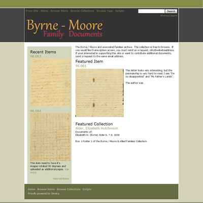 Byrne-Moore Document Site - Repository